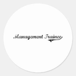 Management Trainee Professional Job Classic Round Sticker