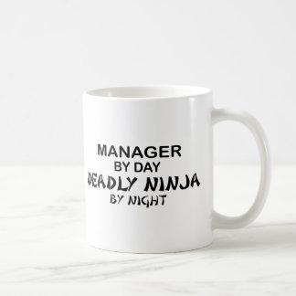 Manager Deadly Ninja by Night Basic White Mug