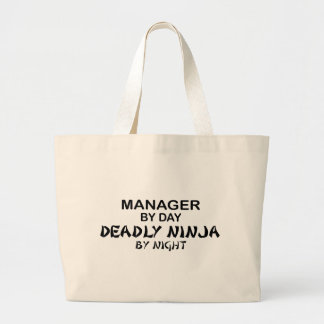 Manager Deadly Ninja by Night Jumbo Tote Bag