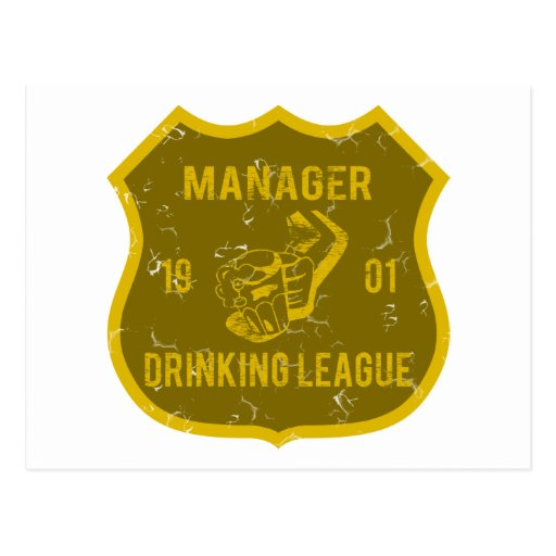 Manager Drinking League Postcards