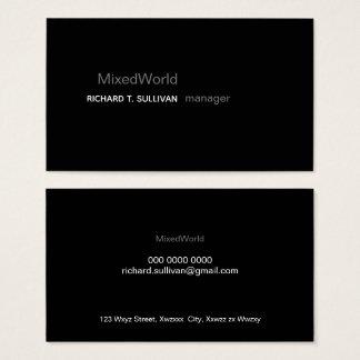 manager elegant & modern black business card