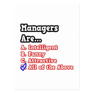 Manager Quiz...Joke Postcard