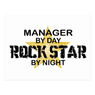 Manager Rock Star by Night Postcard
