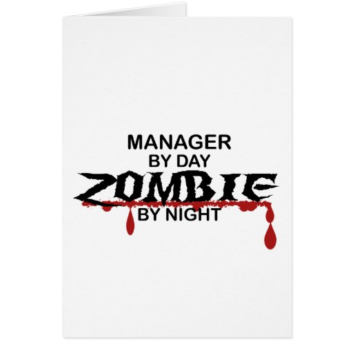 Manager Zombie Greeting Cards