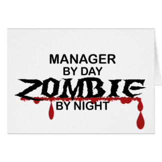 Manager Zombie Greeting Card