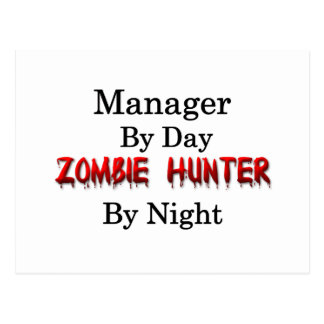 Manager/Zombie Hunter Postcard