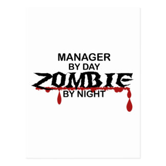 Manager Zombie Post Cards
