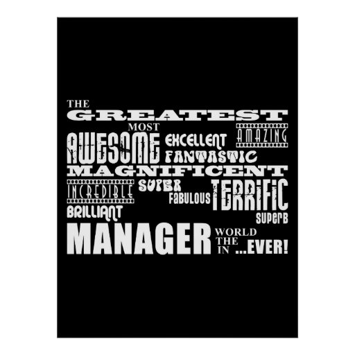 Managers & Bosses : Greatest Manager Poster