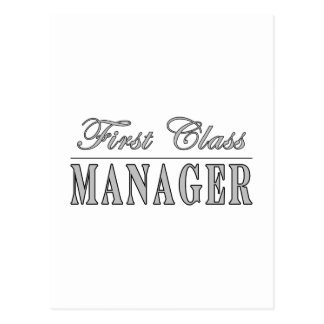 Managers First Class Manager Post Cards