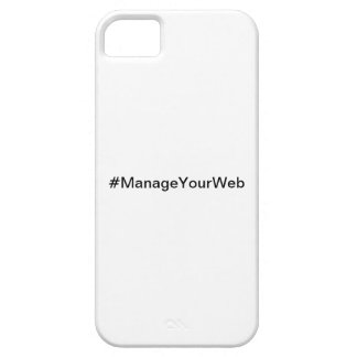 #ManageYourWeb iPhone 5 case