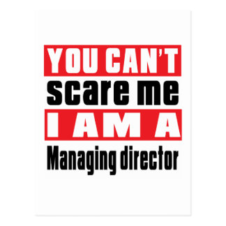 Managing director or General manager scare designs Postcard