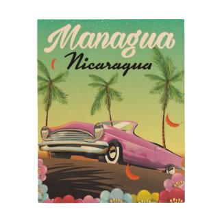 Managua - Nicaragua travel poster