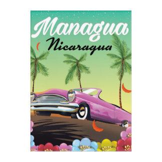 Managua - Nicaragua travel poster Acrylic Print