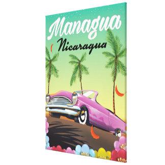 Managua - Nicaragua travel poster Canvas Print