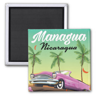 Managua - Nicaragua travel poster Magnet