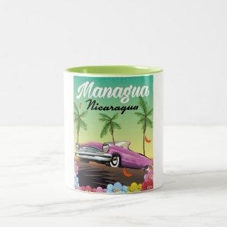 Managua - Nicaragua travel poster Two-Tone Coffee Mug
