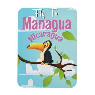 Managua, Nicaragua vintage travel poster Magnet
