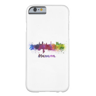 Manama skyline in watercolor barely there iPhone 6 case