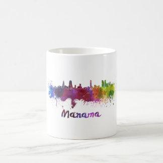 Manama skyline in watercolor coffee mug