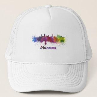 Manama skyline in watercolor trucker hat