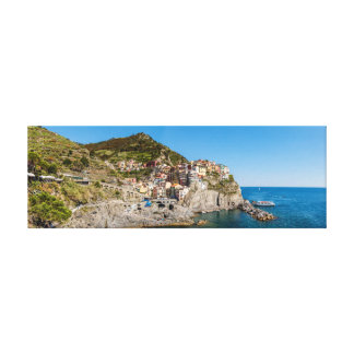 Manarola Panorama Canvas Print