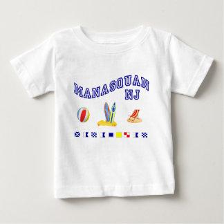 Manasquan NJ - Maritime Spelling Baby T-Shirt