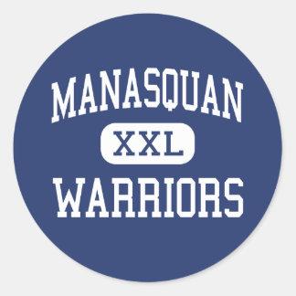 Manasquan - Warriors - High - Manasquan New Jersey Round Stickers