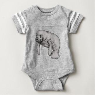 manatee art baby bodysuit
