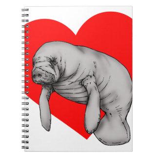 manatee art notebook