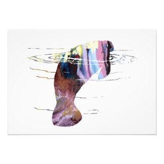 Manatee art photo print