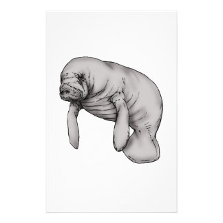 manatee art stationery