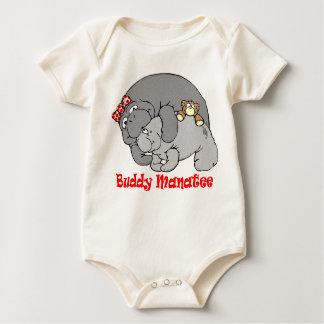 Manatee Kiss Baby Sleeper Baby Bodysuit