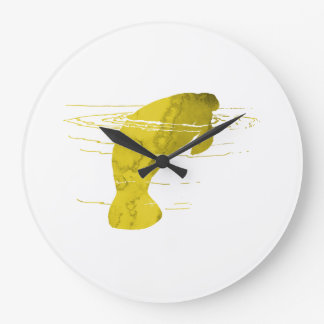 Manatee Large Clock
