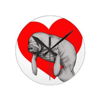 manatee love clock