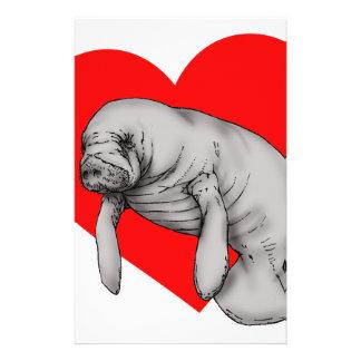 manatee love stationery