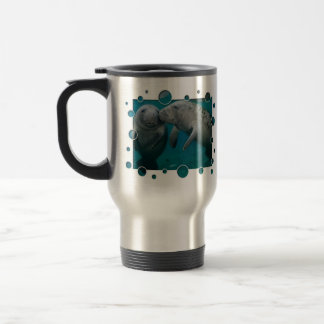 Manatee Love Valentine's Day Travel Mug