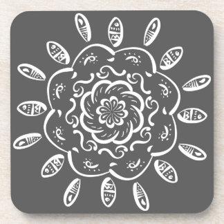 Manatee Mandala Beverage Coaster