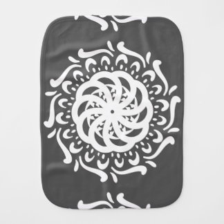 Manatee Mandala Burp Cloth