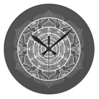 Manatee Mandala Large Clock
