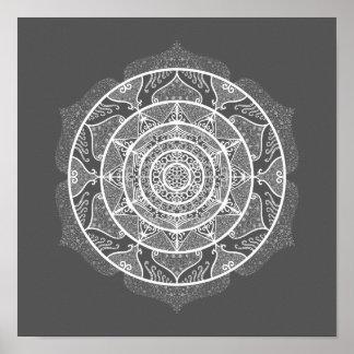 Manatee Mandala Poster