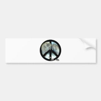 manatee peace bumper sticker