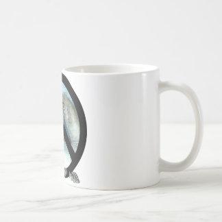 manatee peace coffee mug