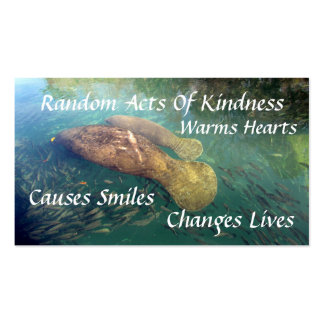 Manatee Random Acts of Kindness Card Pack Of Standard Business Cards