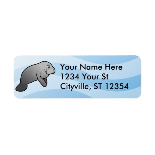 Manatee Return Address Label