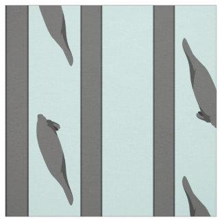 Manatee Stripes gray teal fabric
