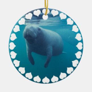 Manatee Swimming Ornament