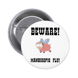manbirdpig-LTT 6 Cm Round Badge