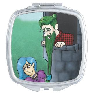 Manbunzel Compact Mirror