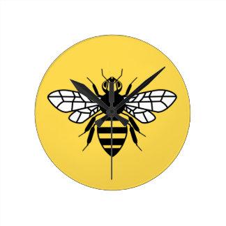 Manchester Bee Round Clock