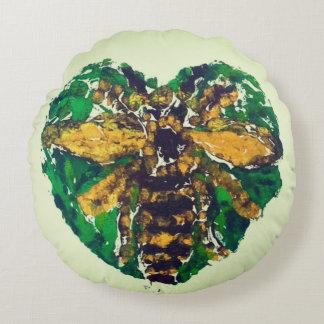 Manchester Bee round cushion
